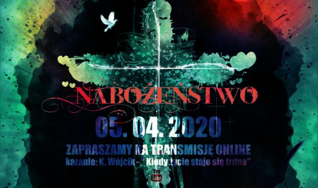 05.04.2020 Nabozenstwo online