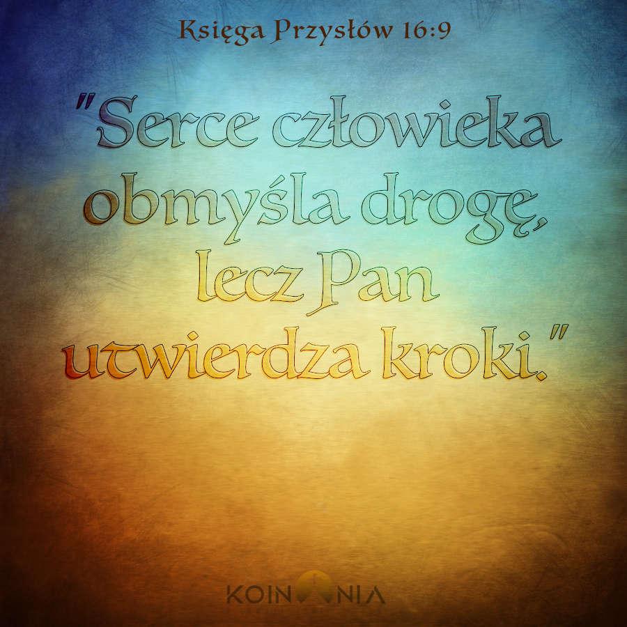 Księga Przysłów 16:9
